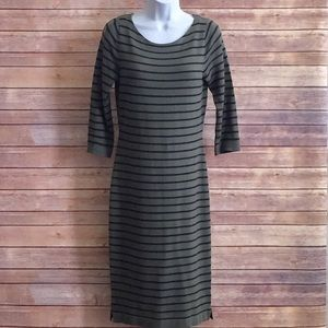 The Limited  Olive and Black knit dress